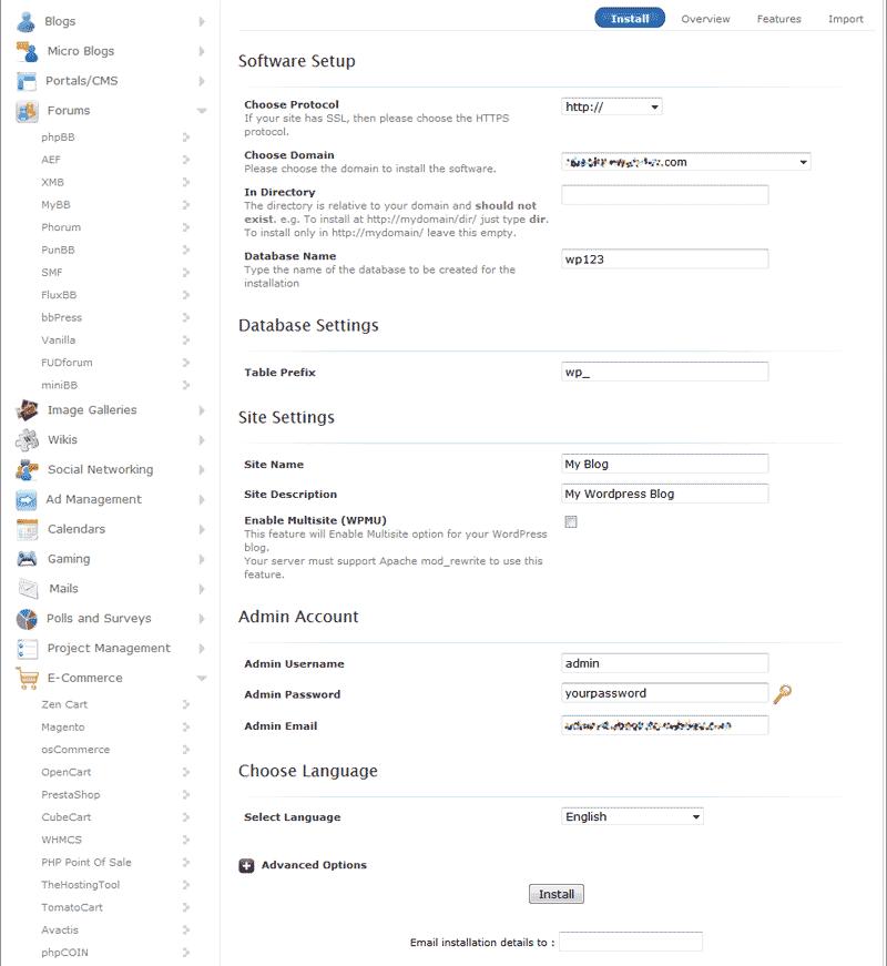 edu wordpress 101 wordpress softaculous 3 setup