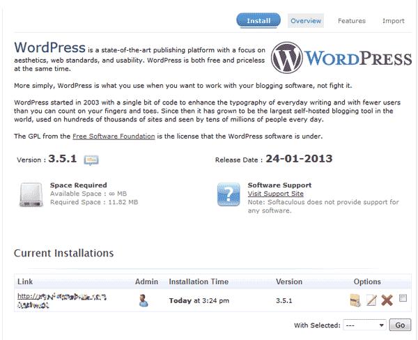 edu wordpress 101 wordpress softaculous 6 current install
